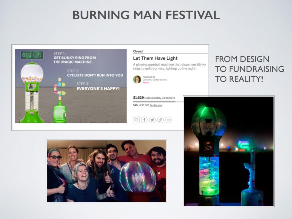 BURNING MAN FESTIVAL FROM DESIGN TO FUNDRAISING...