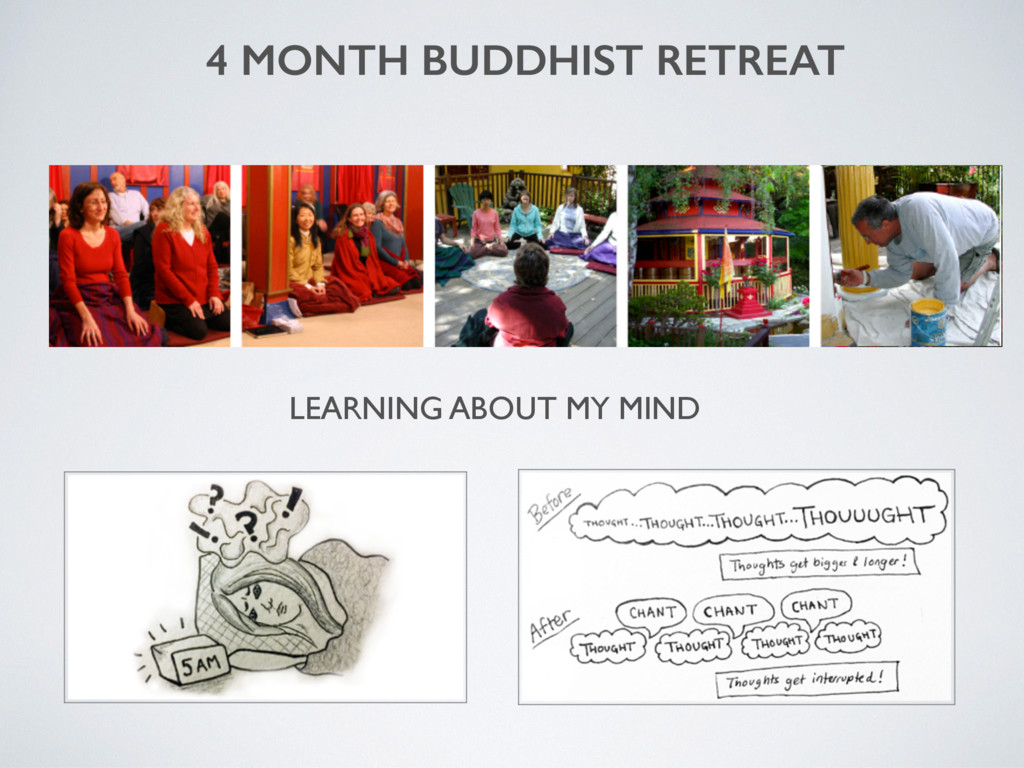 4 MONTH BUDDHIST RETREAT LEARNING ABOUT MY MIND
