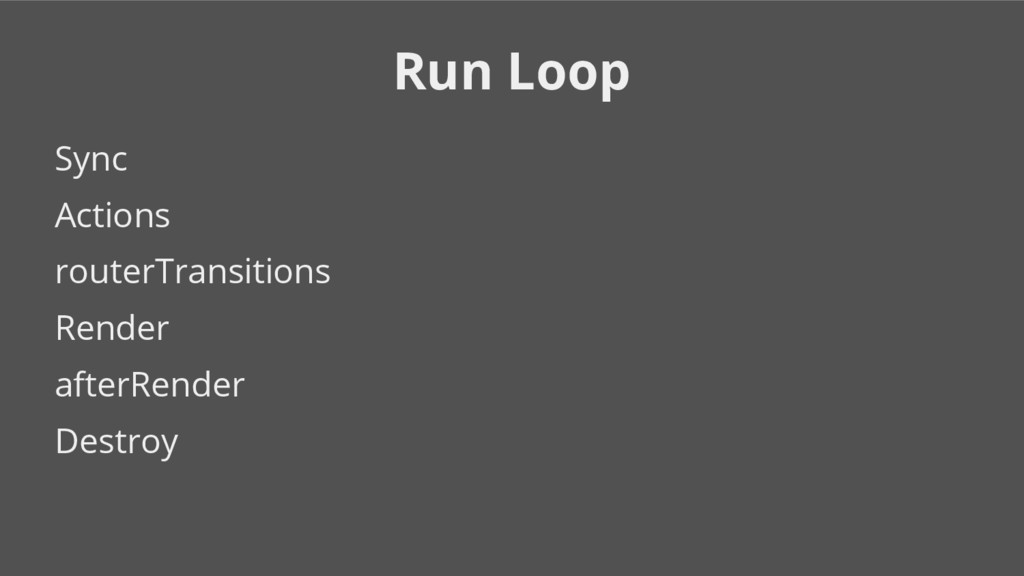 Run Loop Sync Actions routerTransitions Render ...