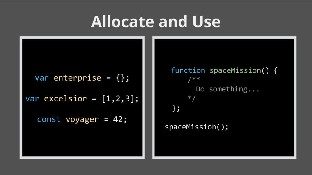 Allocate and Use var enterprise = {}; var excel...