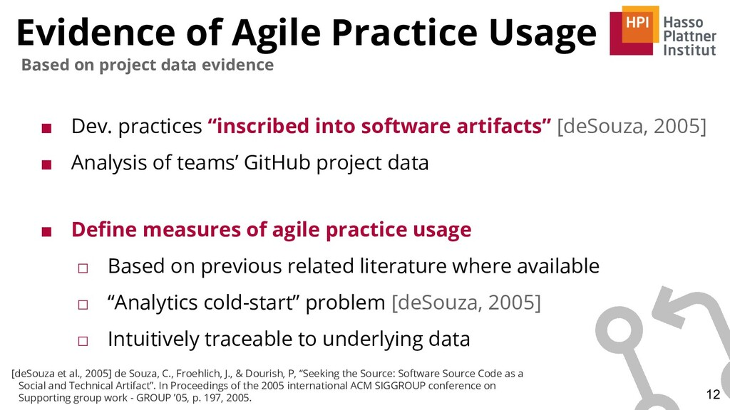 Evidence of Agile Practice Usage ■ Dev. practic...