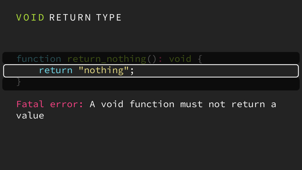 V O I D R E T U R N T Y P E function return_not...