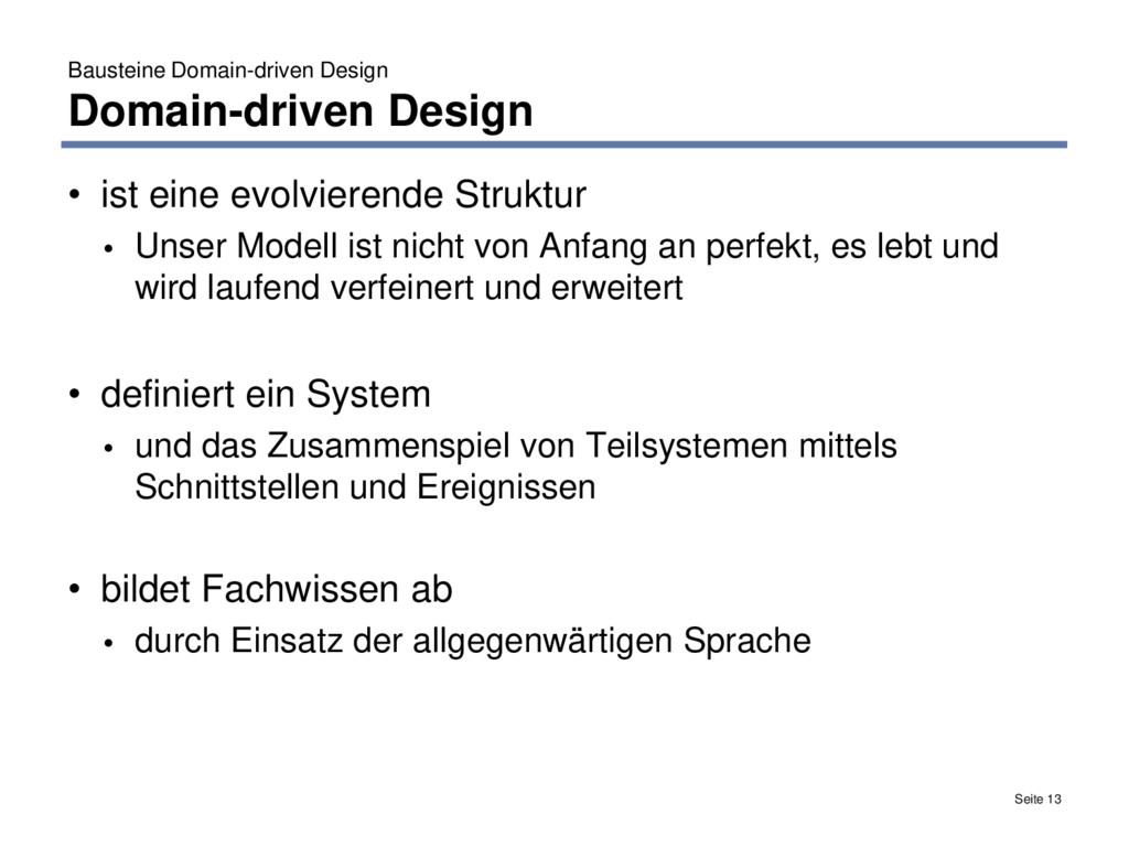 Bausteine Domain-driven Design Domain-driven De...