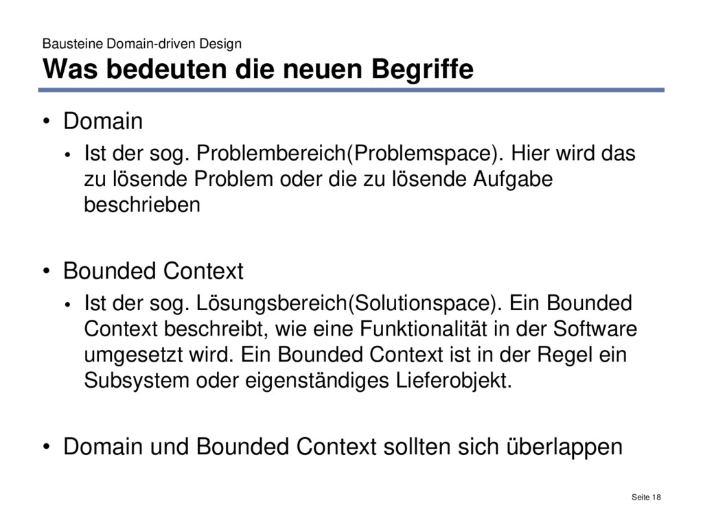 Bausteine Domain-driven Design Was bedeuten die...