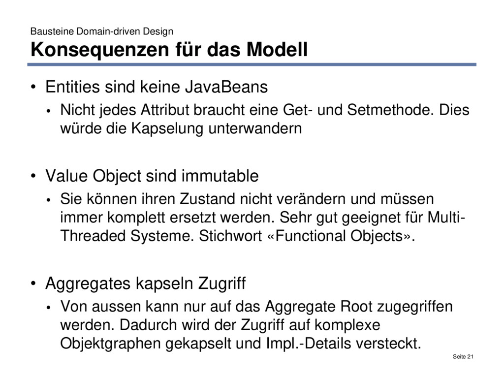 Bausteine Domain-driven Design Konsequenzen für...