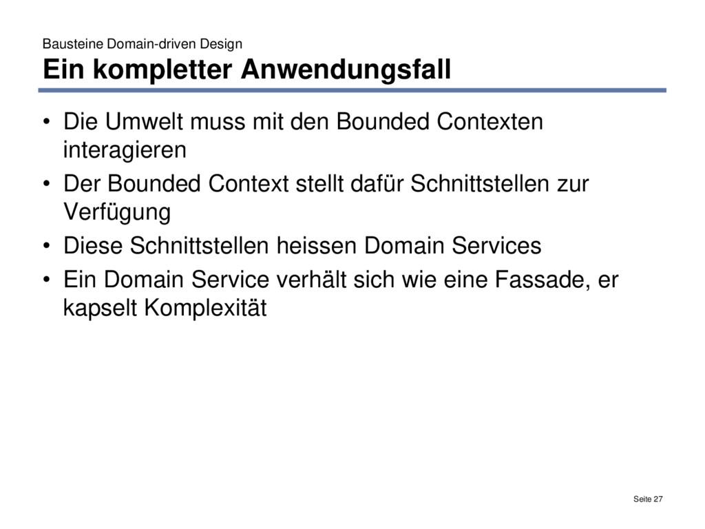 Bausteine Domain-driven Design Ein kompletter A...