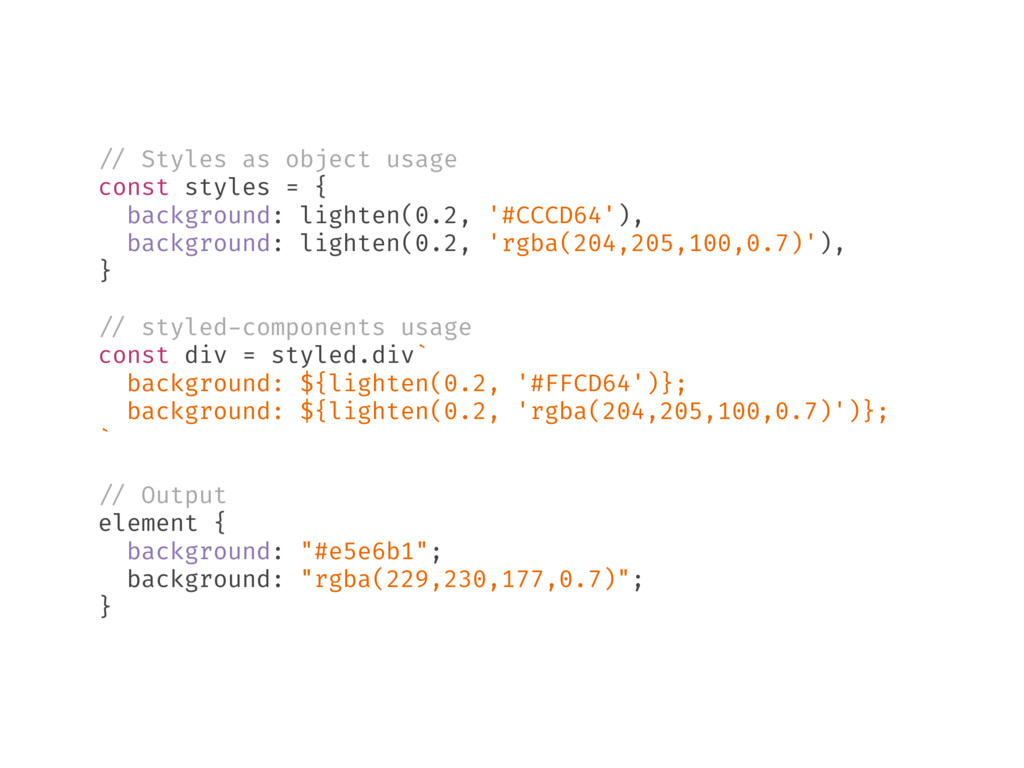 // Styles as object usage const styles = { back...