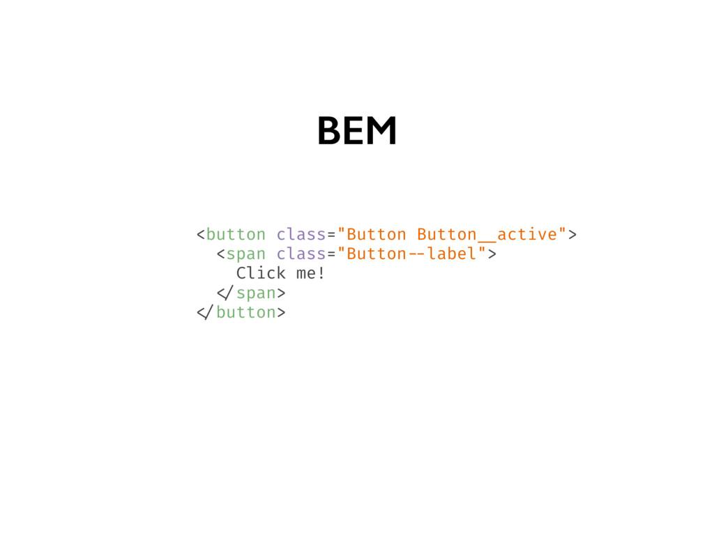 """BEM <button class=""""Button Button __active""""> <sp..."""