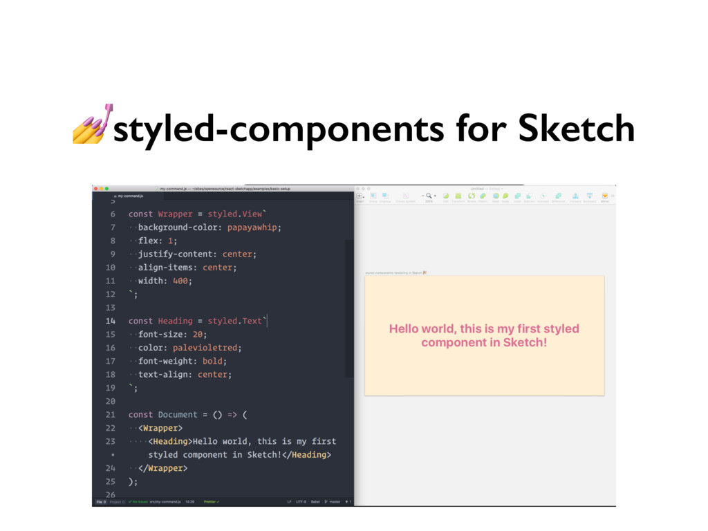 styled-components for Sketch