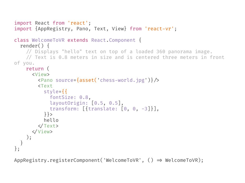 import React from 'react'; import {AppRegistry,...