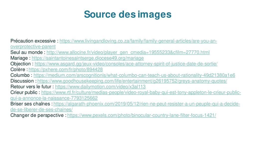 Source des images Précaution excessive : https:...