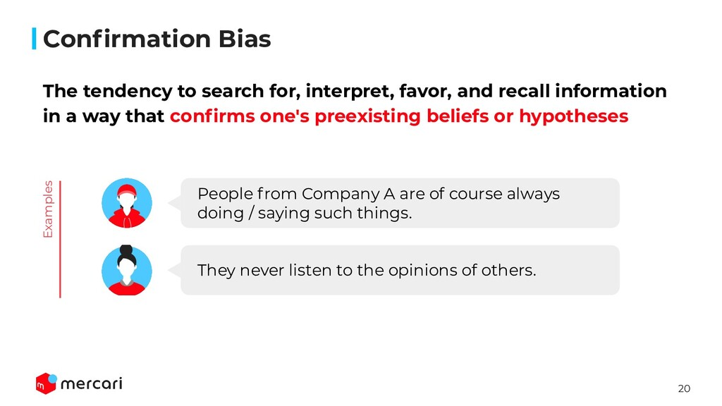 20 Confirmation Bias The tendency to search for,...
