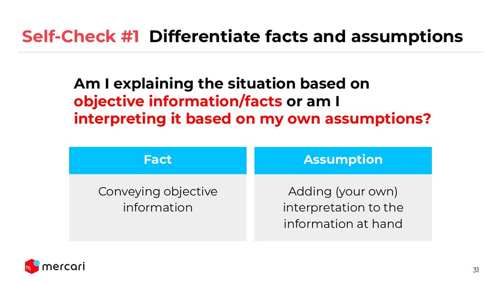 31 Conveying objective information Fact Adding ...