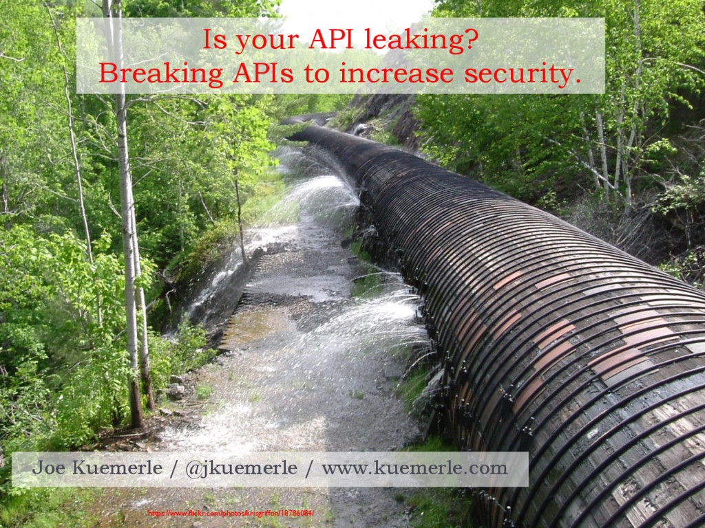 Is your API leaking? Breaking APIs to increase ...