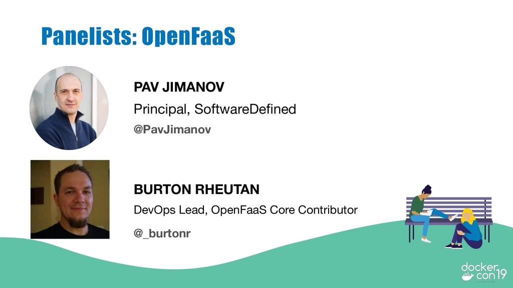 PAV JIMANOV Principal, SoftwareDefined Panelist...