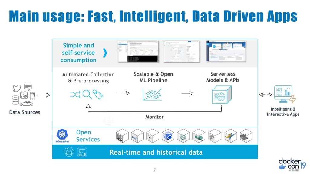 7 Main usage: Fast, Intelligent, Data Driven Ap...
