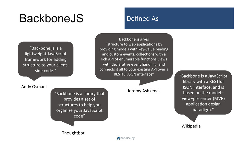 BackboneJS Defined	