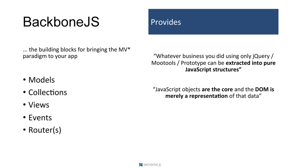BackboneJS ...	