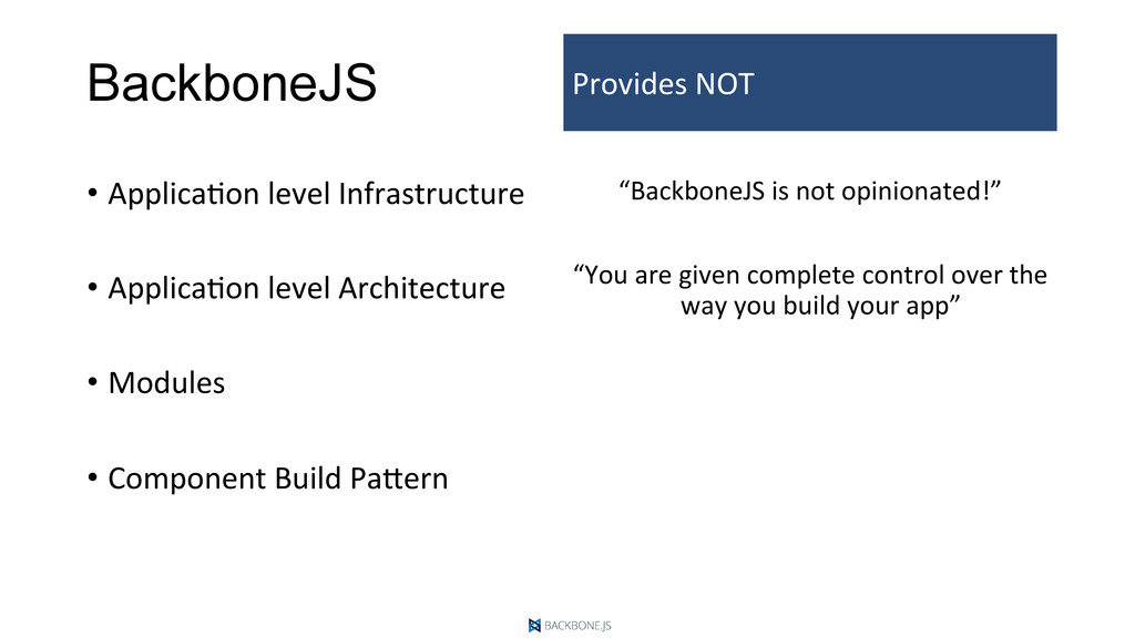 BackboneJS •  ApplicaDon	