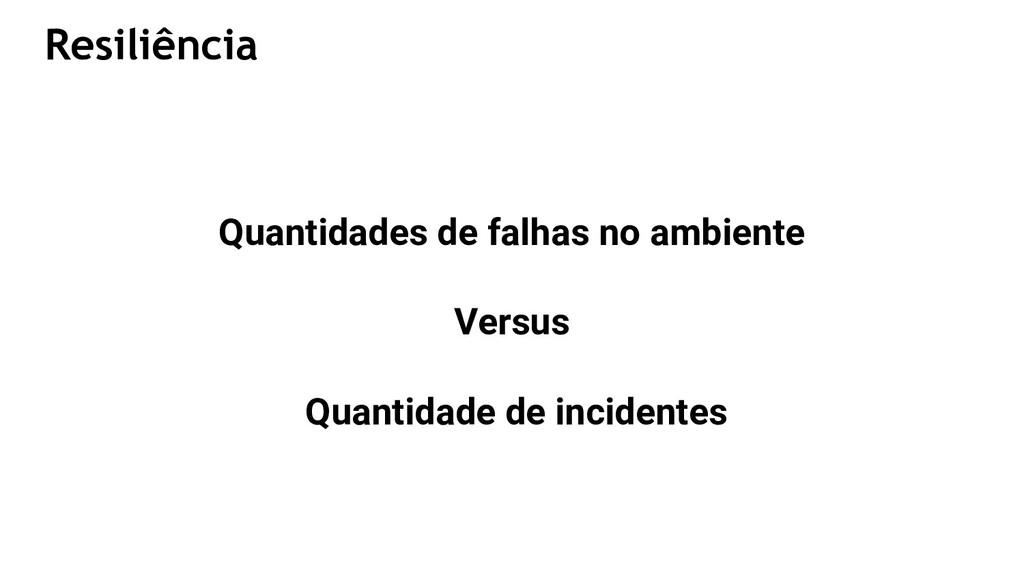 Quantidades de falhas no ambiente Versus Quanti...