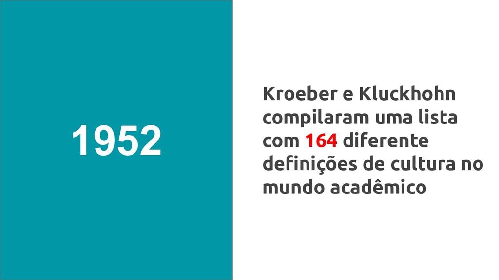 Kroeber e Kluckhohn compilaram uma lista com 16...