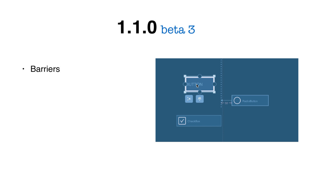 • Barriers beta 3 1.1.0