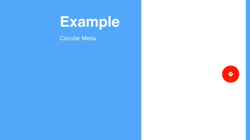 Example Circular Menu