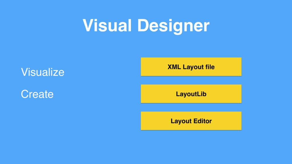 Visual Designer Visualize Create LayoutLib XML ...