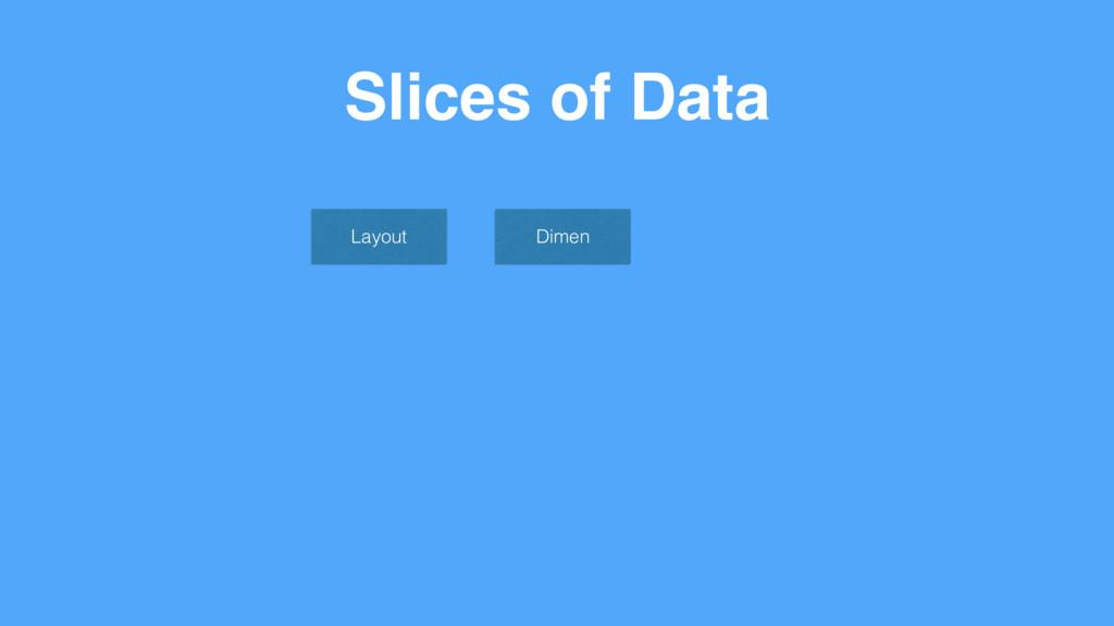 Slices of Data Layout Dimen