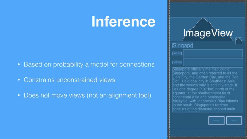 Inference • Based on probability a model for co...