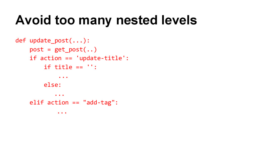 Avoid too many nested levels def update_post(.....