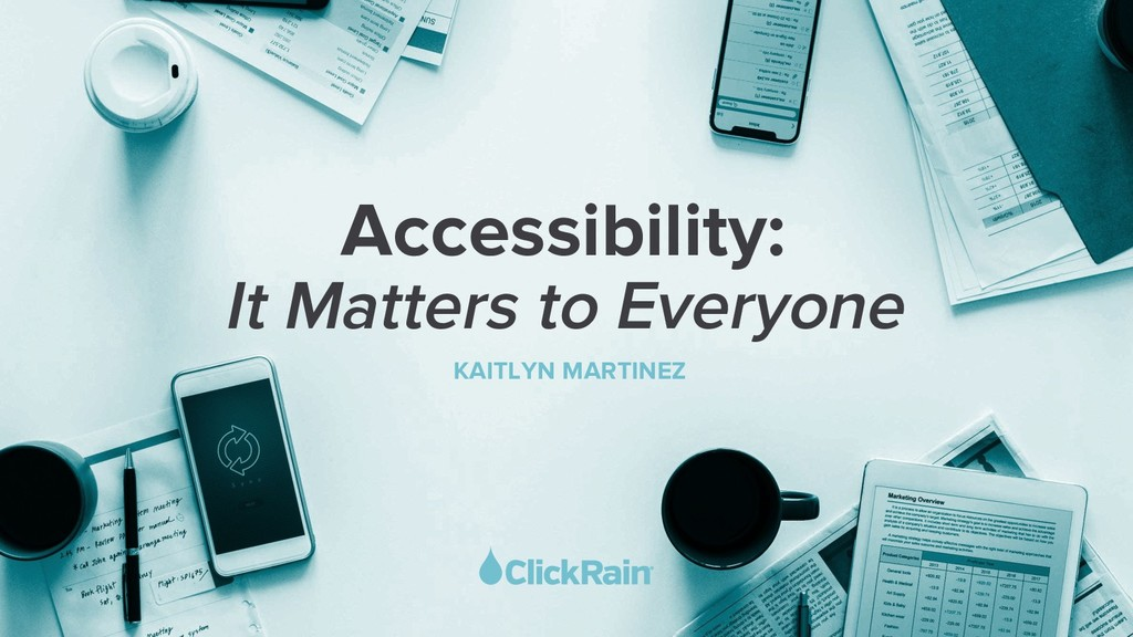 It Matters to Everyone KAITLYN MARTINEZ Accessi...