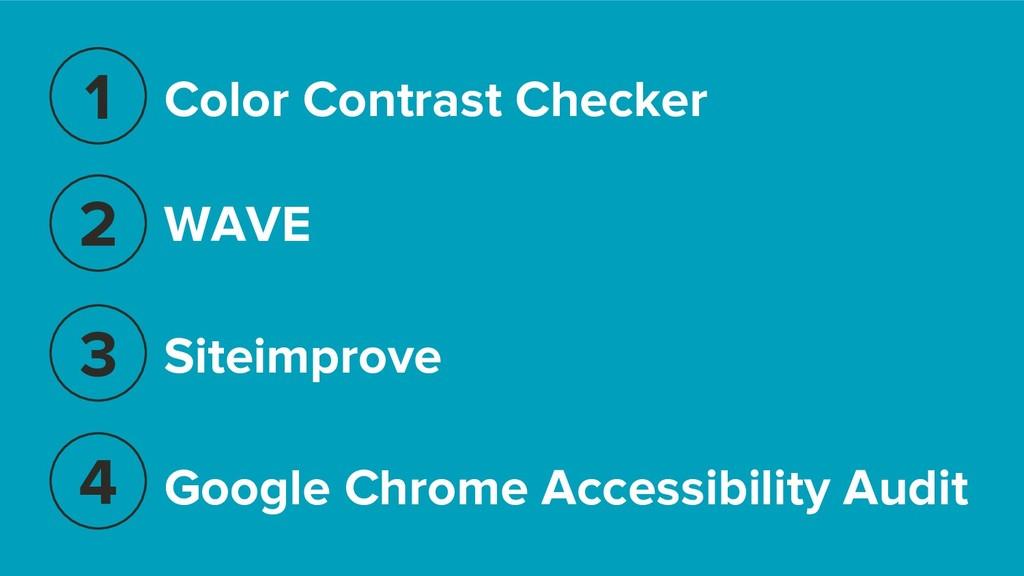 WAVE 1 2 3 4 Google Chrome Accessibility Audit ...
