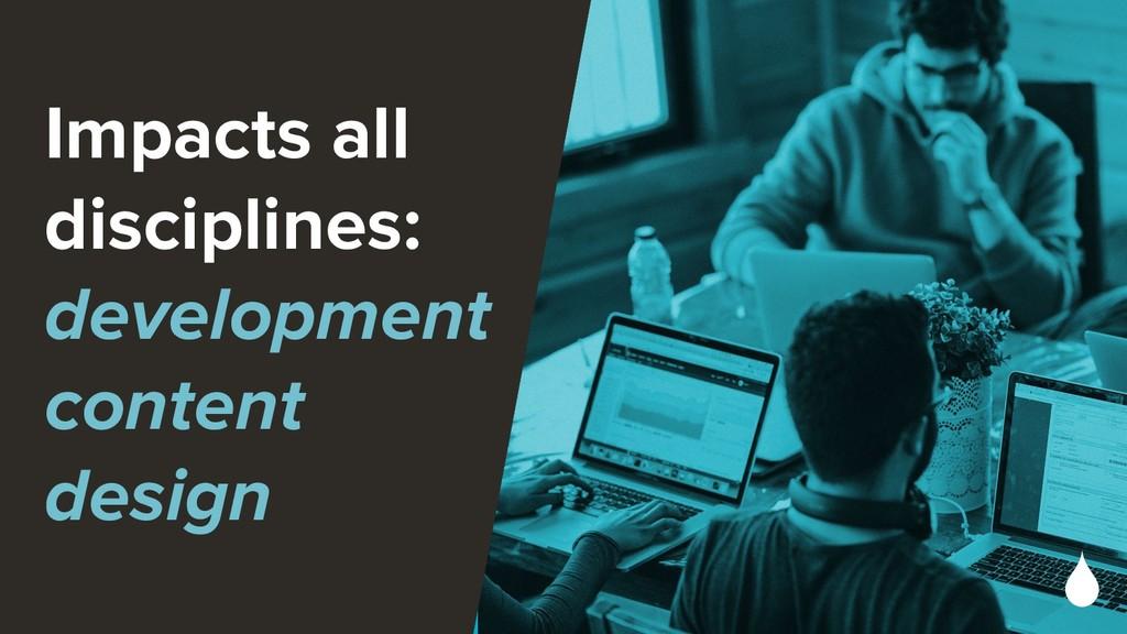 Impacts all disciplines: development content de...