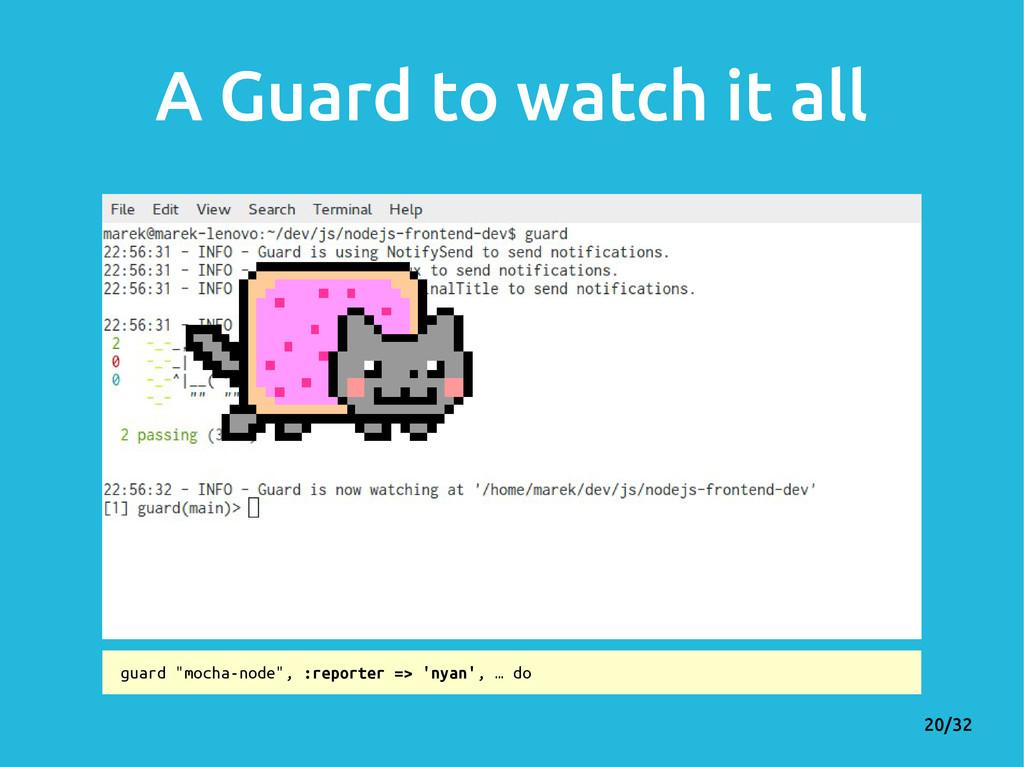 "20/32 A Guard to watch it all guard ""mocha-node..."