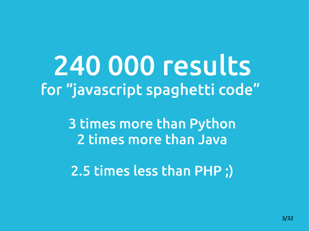 "3/32 240 000 results for ""javascript spaghetti ..."