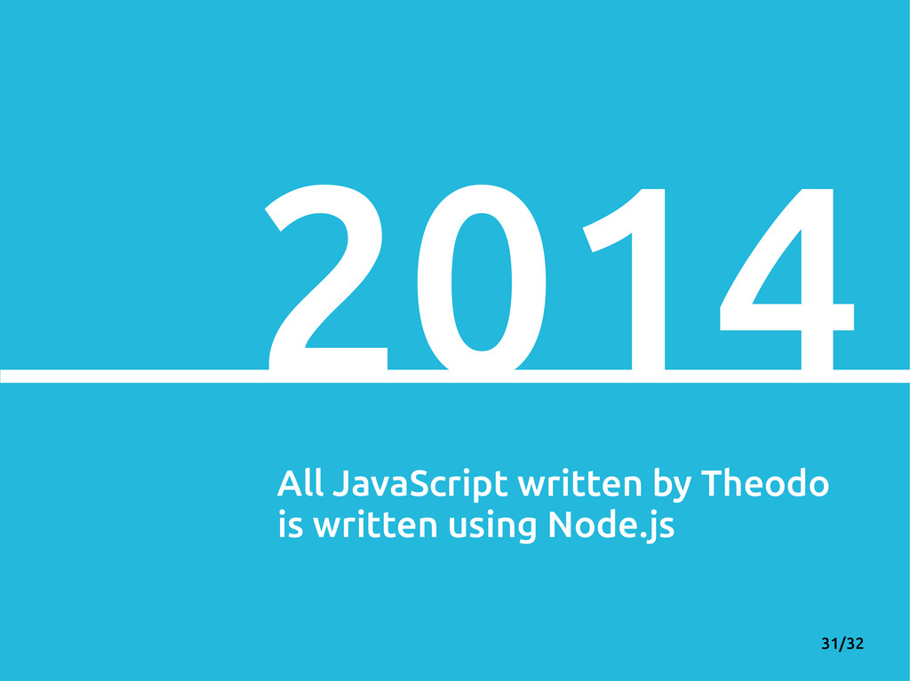 31/32 2014 All JavaScript written by Theodo is ...