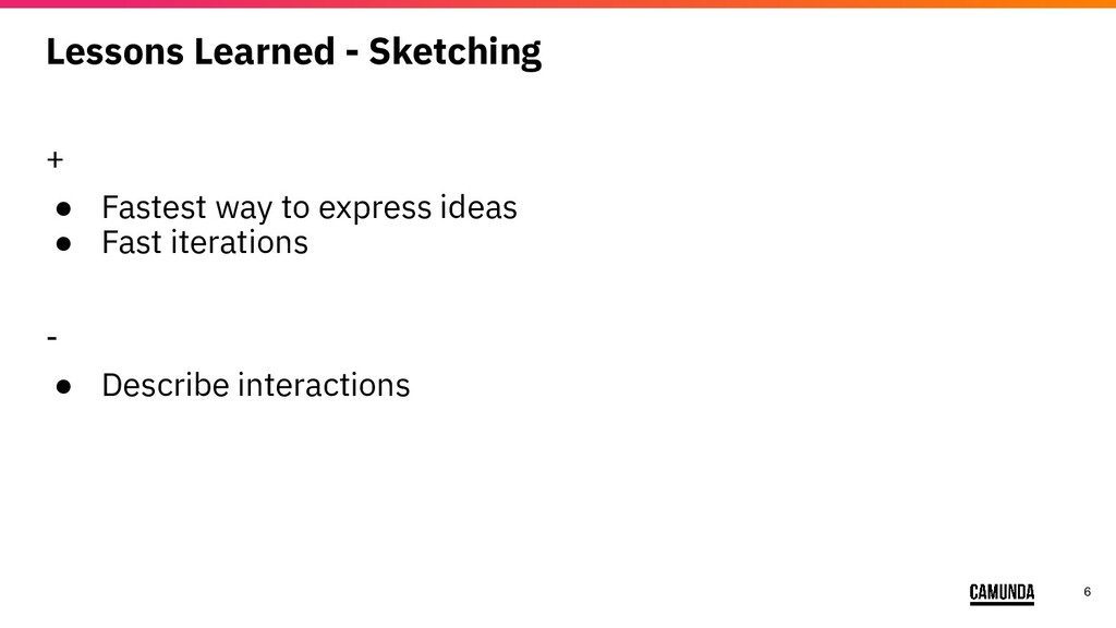 6 Lessons Learned - Sketching + ● Fastest way t...