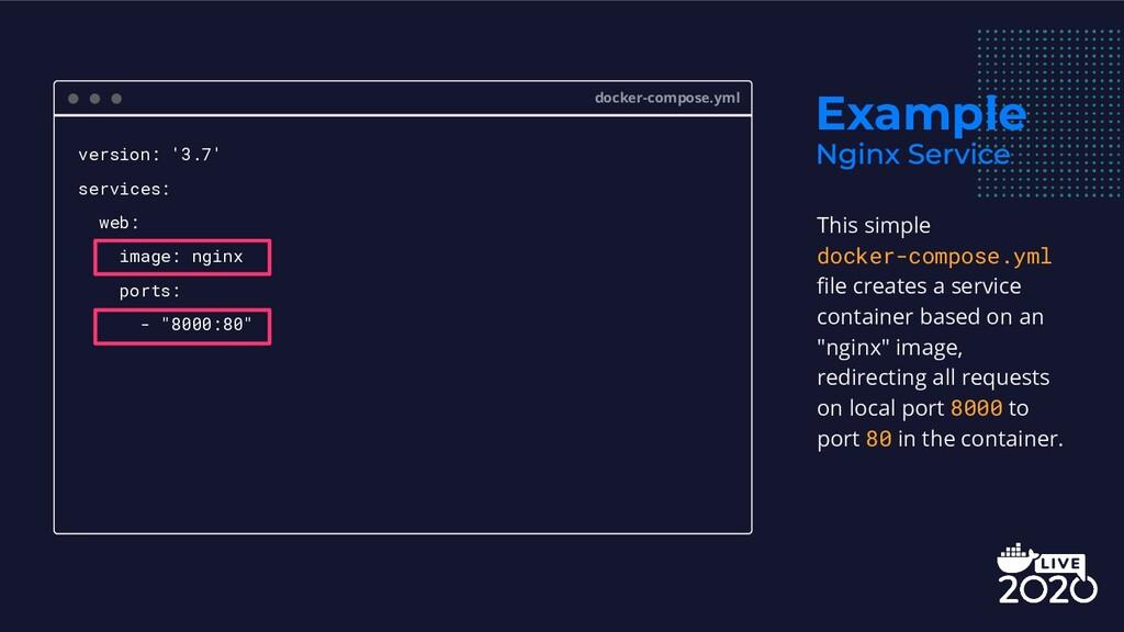 Example docker-compose.yml version: '3.7' servi...