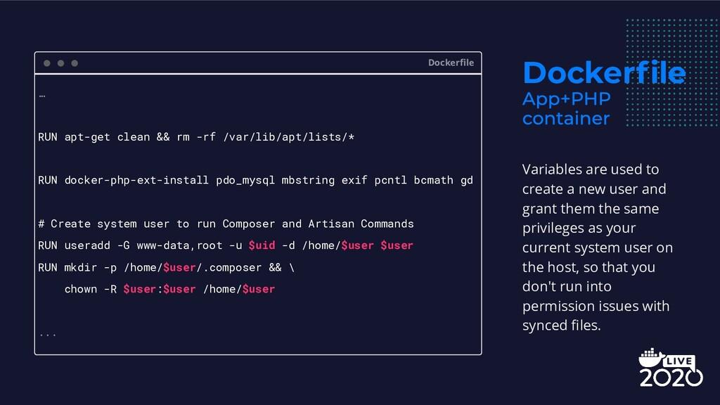 Dockerfile Dockerfile … RUN apt-get clean && rm -...