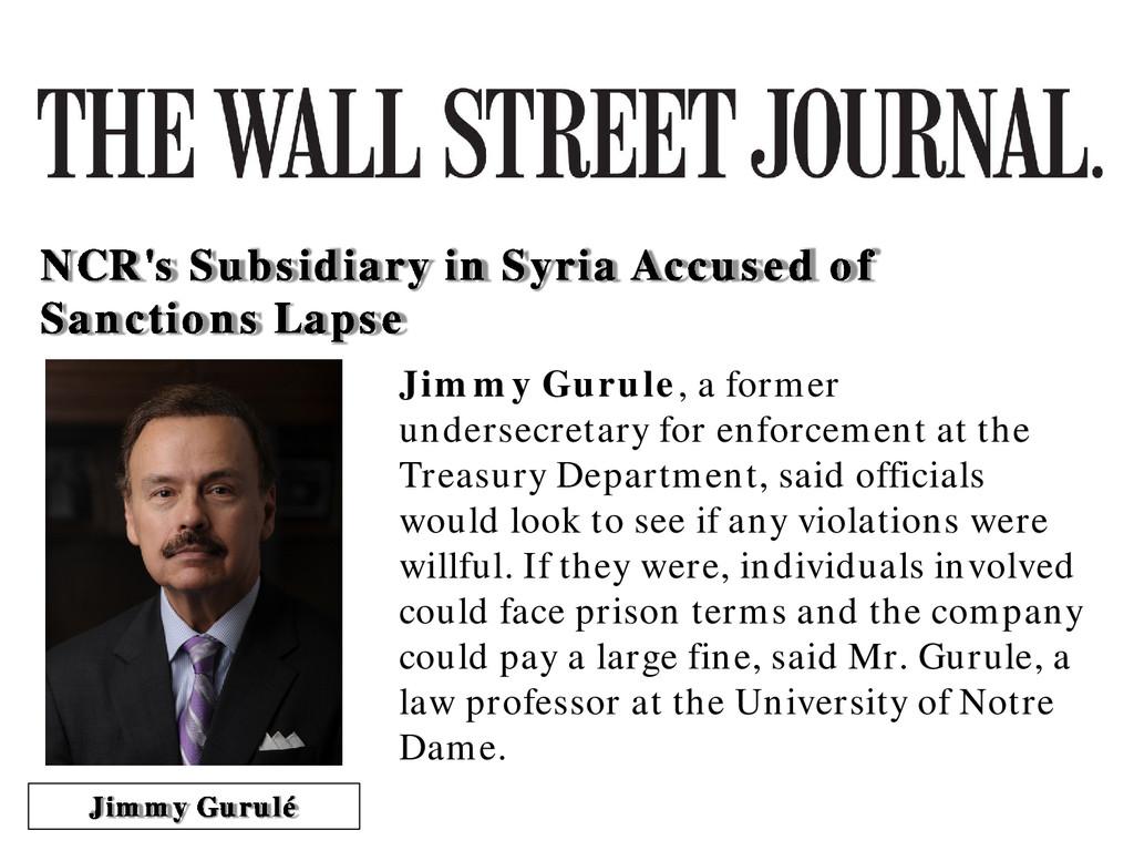 Jimmy Gurule, a former undersecretary for enfor...