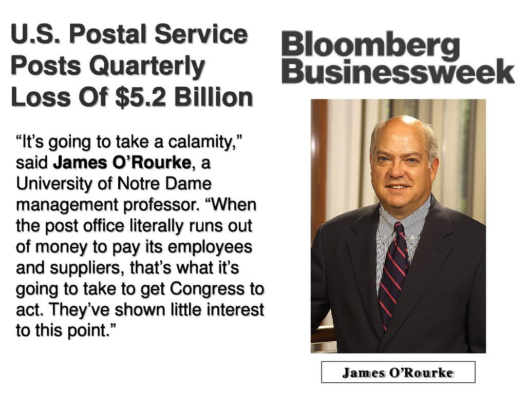 U.S. Postal Service Posts Quarterly Loss Of $5....