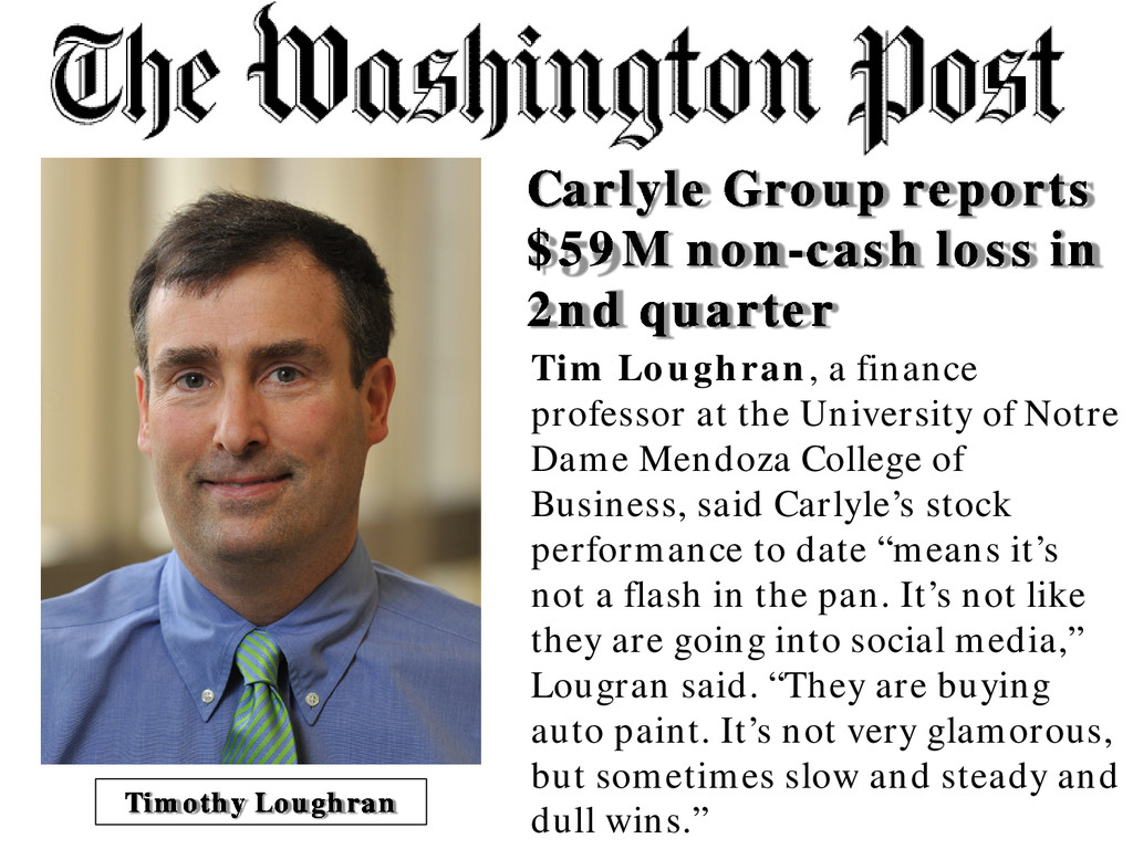 Carlyle Group reports $59M non-cash loss in 2nd...