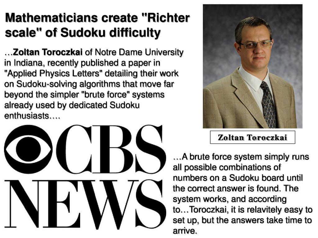 "Mathematicians create ""Richter scale"" of Sudoku..."