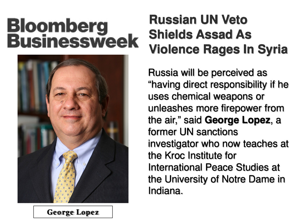 Russian UN Veto Shields Assad As Violence Rages...