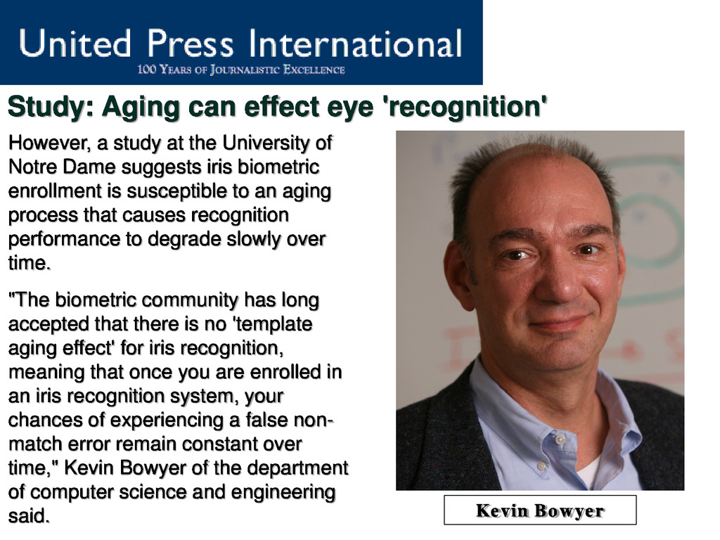 Study: Aging can effect eye 'recognition' Howev...