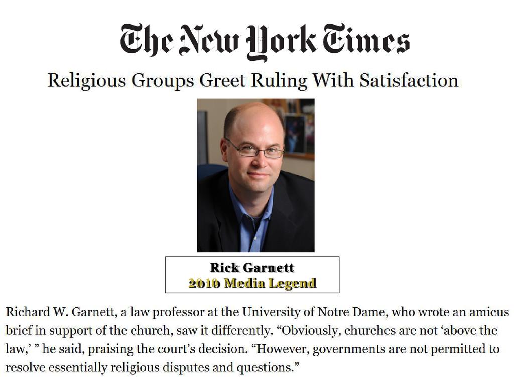 Rick Garnett 2010 Media Legend