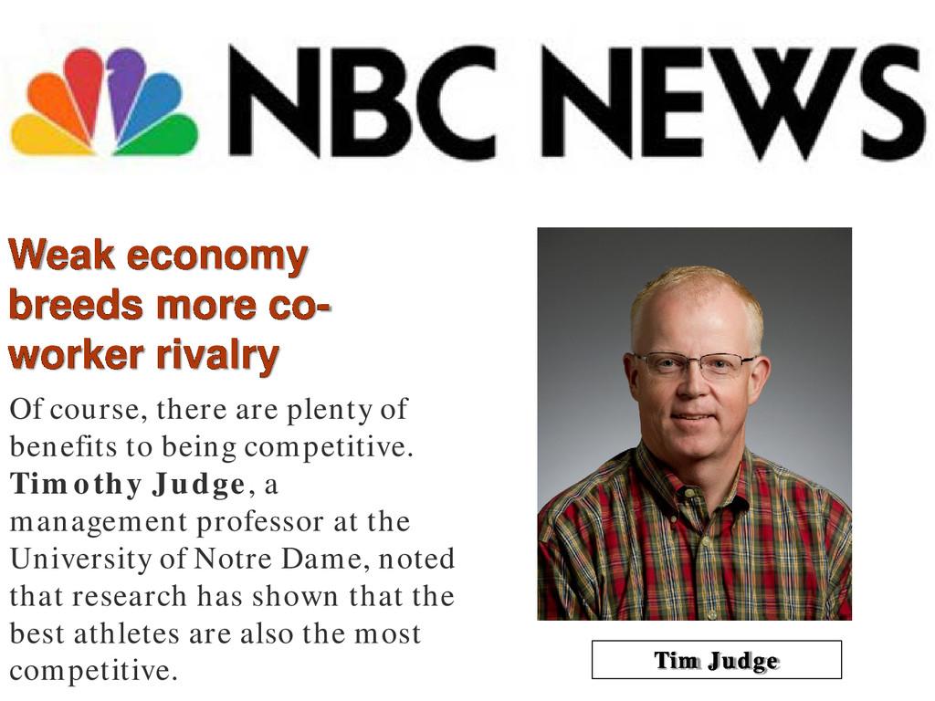 Weak economy breeds more co- worker rivalry Of ...