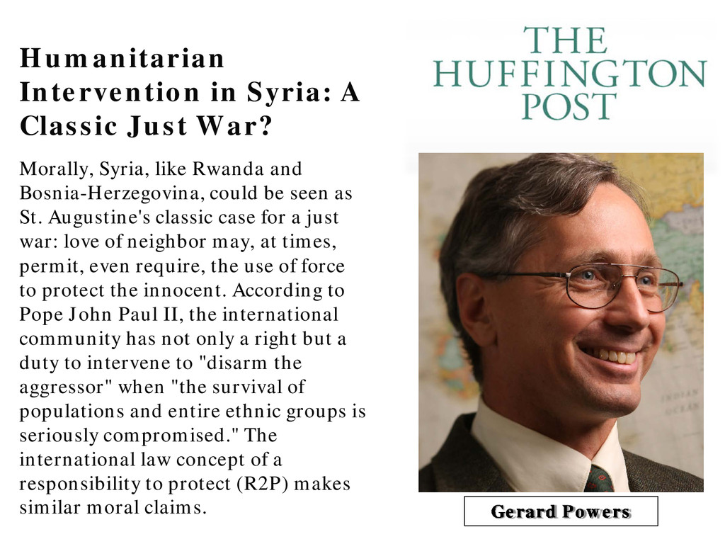 Humanitarian Intervention in Syria: A Classic J...
