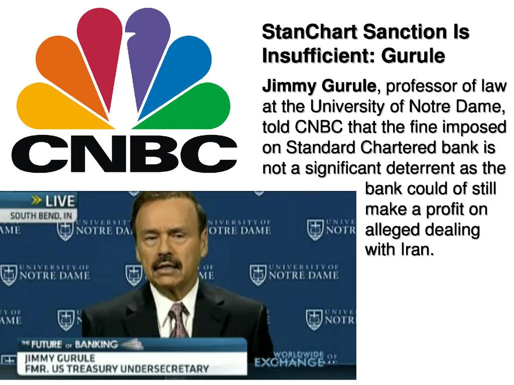 StanChart Sanction Is Insufficient: Gurule Jimm...